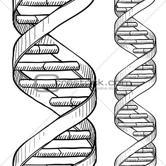 Image 5130439: Seamless DNA double helix pattern from