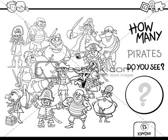 Image 7327535: counting pirates coloring page activity