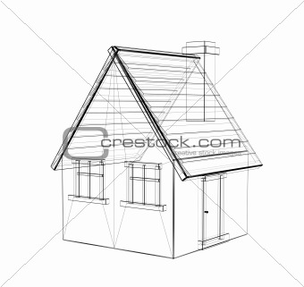 Image 819882: The 3d drawing of a rural house from