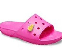 Classic Crocs Slide - Väri: Sähköinen Pinkki