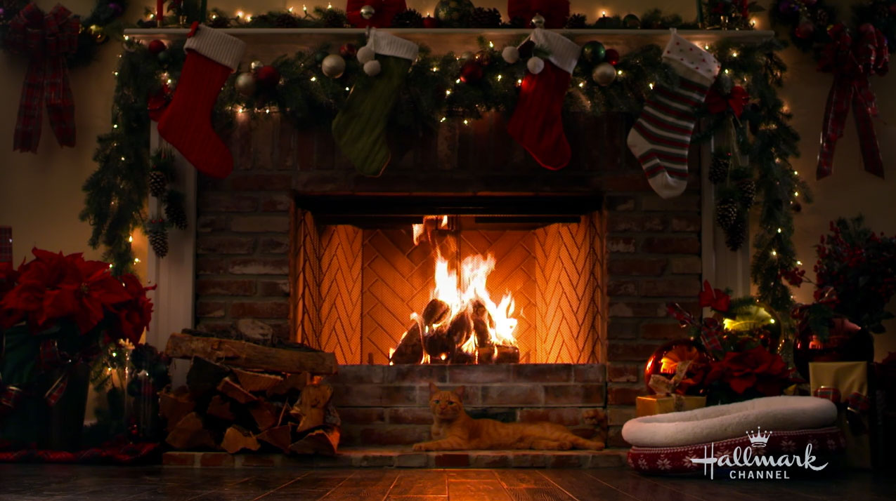 Happy The Cat The Holiday Yule Log Video Hallmark