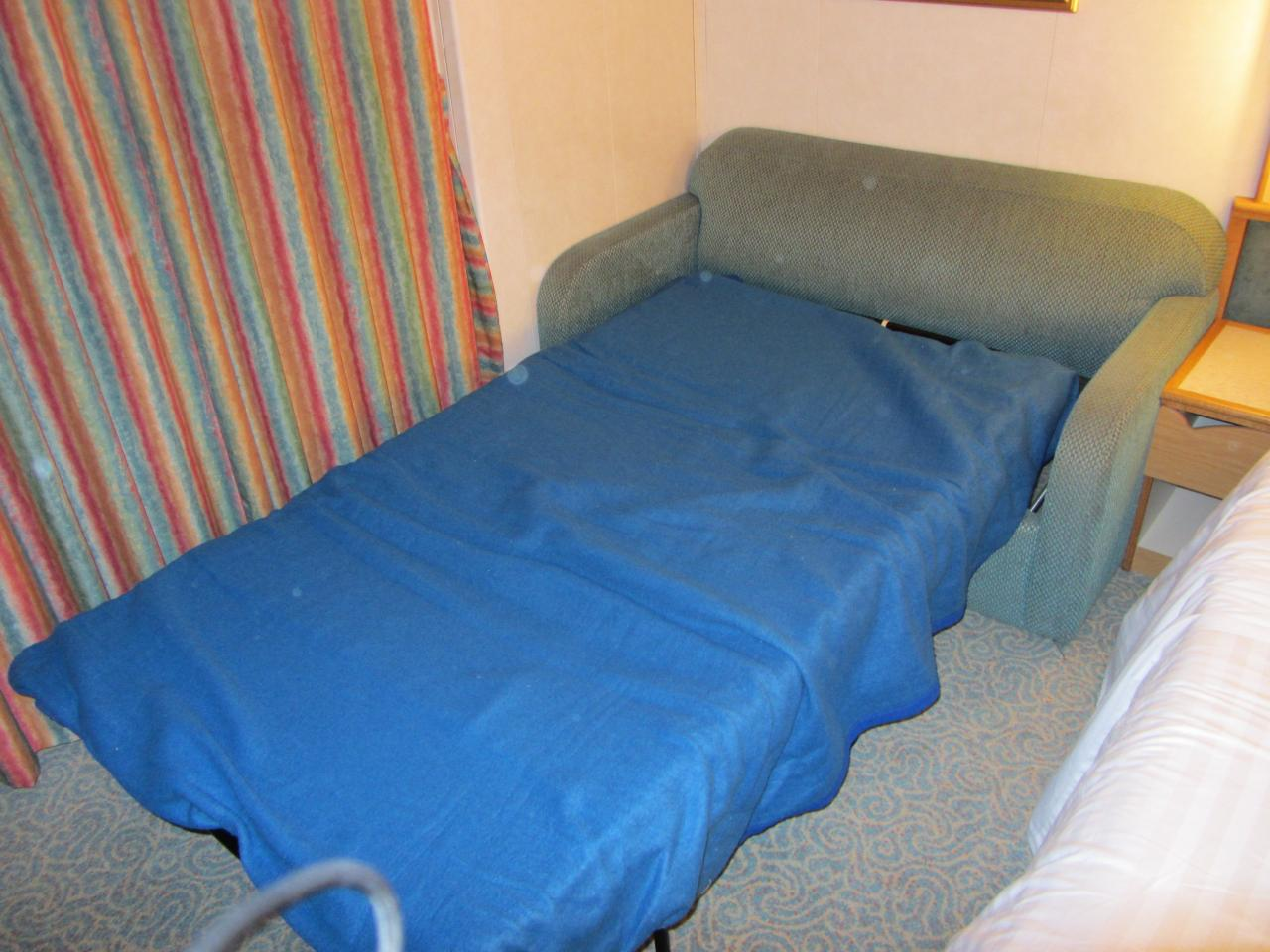 sofa sleeper for cabin blue plaid covers royal caribbean bed brokeasshome