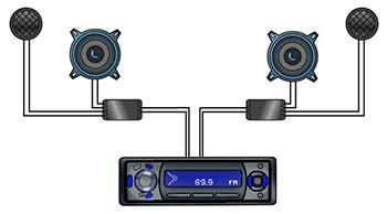 car audio crossover wiring diagram kenwood kdc x395 component speakers installation guide install how your system should connect receiver to crossovers