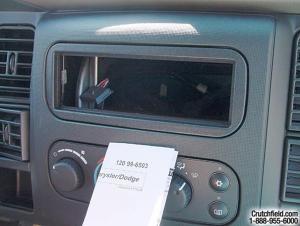20022005 Dodge Ram 1500 Quad Cab Car Audio Profile