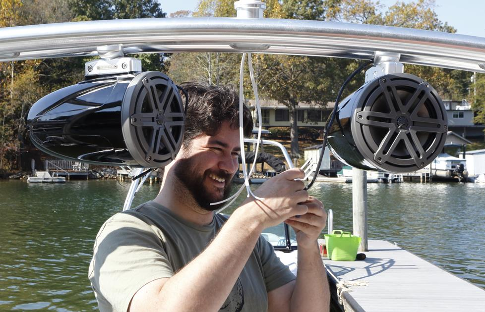 Installing Tower Speakers On A Boat