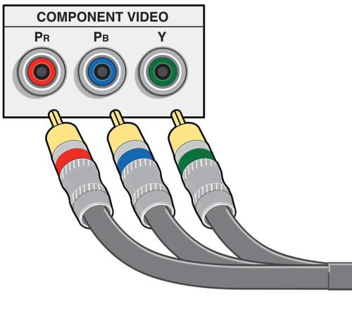 small resolution of component video cable