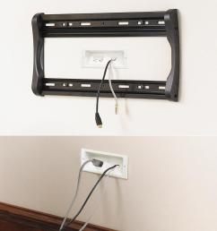 these plates are part of a kit that hides both signal and power connections for a wall mounted tv  [ 978 x 953 Pixel ]