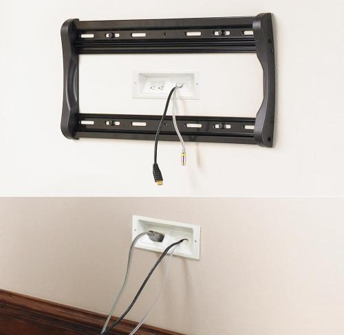 small resolution of these plates are part of a kit that hides both signal and power connections for a wall mounted tv
