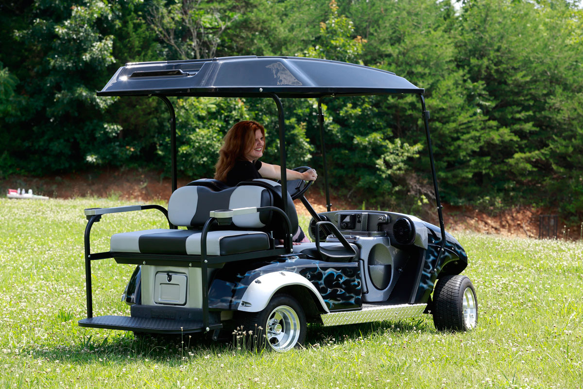 hight resolution of custom fit golf cart stereo systems for select club car and e z go models