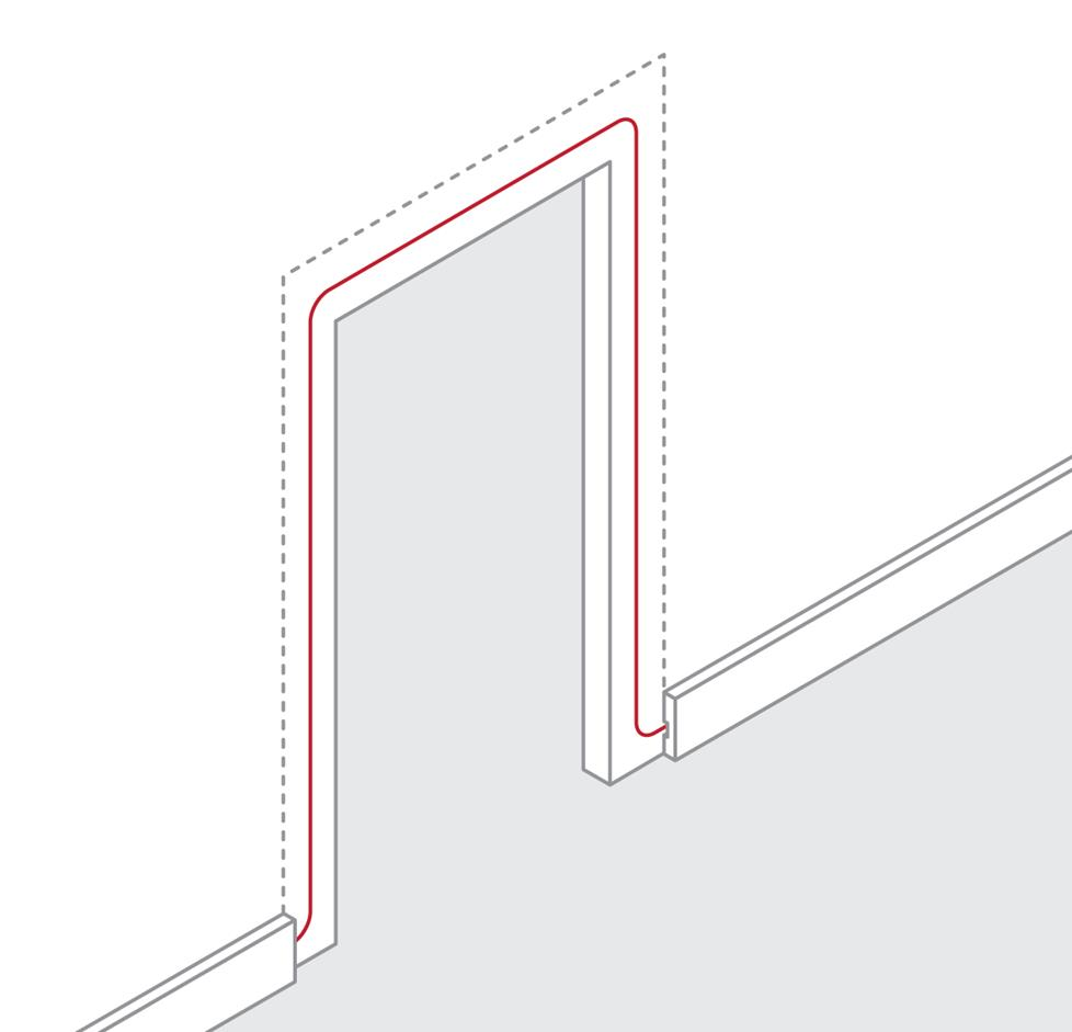 hight resolution of how to route wire around a door frame
