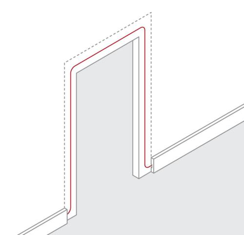 small resolution of how to route wire around a door frame