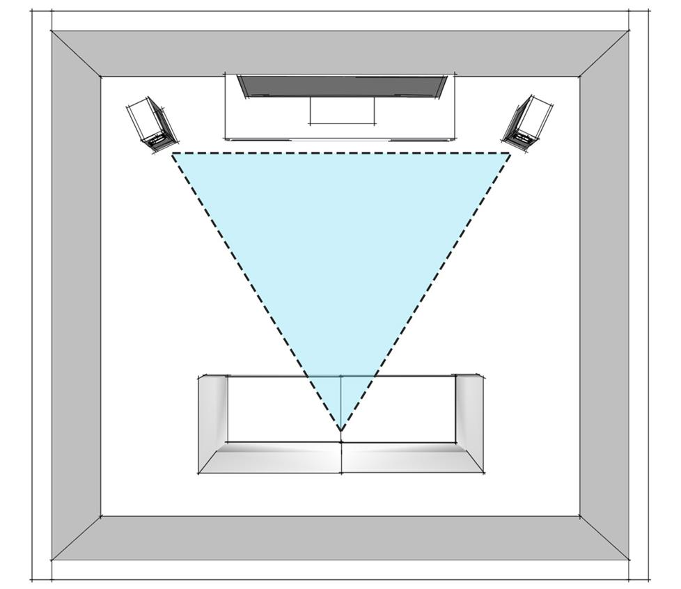 hight resolution of stereo speaker placement diagram