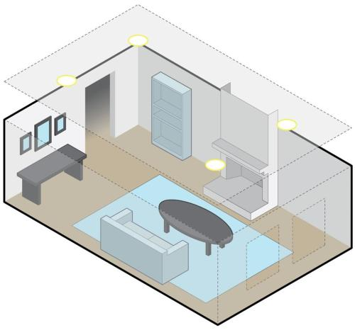 small resolution of living room with two pairs of overhead speakers