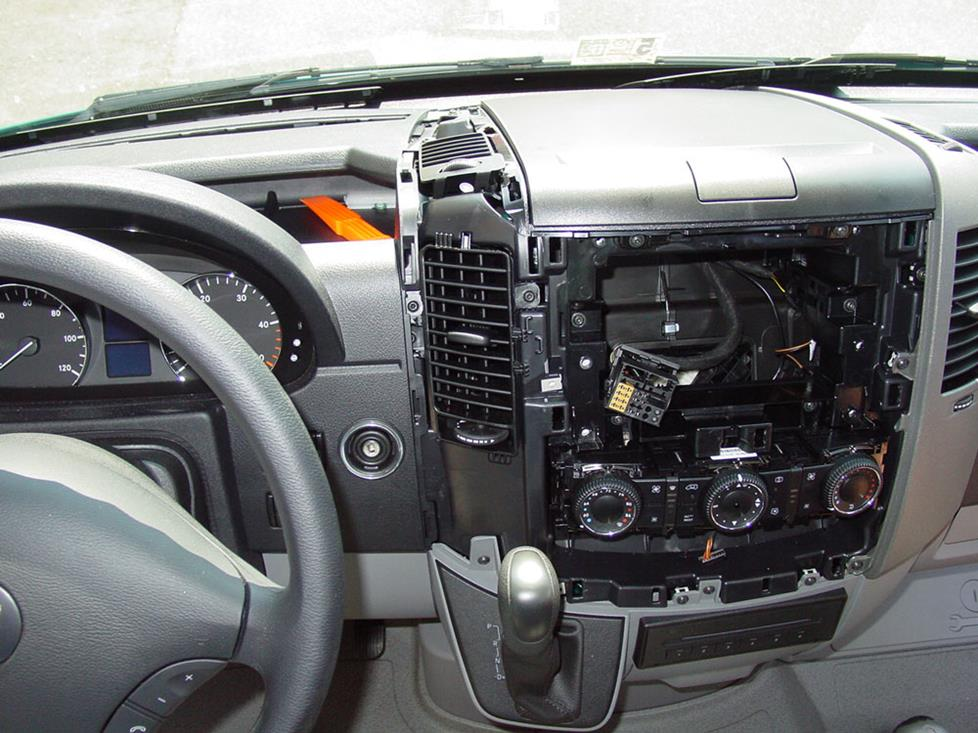 freightliner radio wiring diagram 3 way displays how to install new audio gear in your 2007 up dodge mercedes sprinter center dash