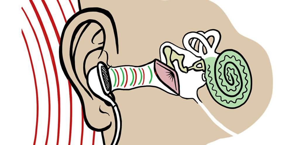 Ear-bud headphones diagram