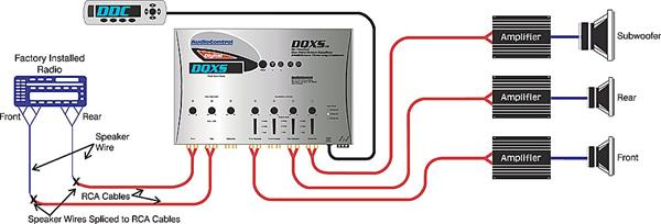 active crossover wiring diagram mgf alternator audiocontrol dqxs (silver) 6-channel digital equalizer with 4-way at crutchfield.com