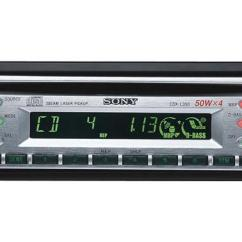 Sony Cdx L350 Wiring Diagram Interposing Relay Panel Cd Receiver At Crutchfield Com Front