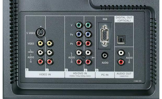 Sony KDL46XBR3 46 BRAVIA XBR 1080p LCD HDTV at Crutchfieldcom
