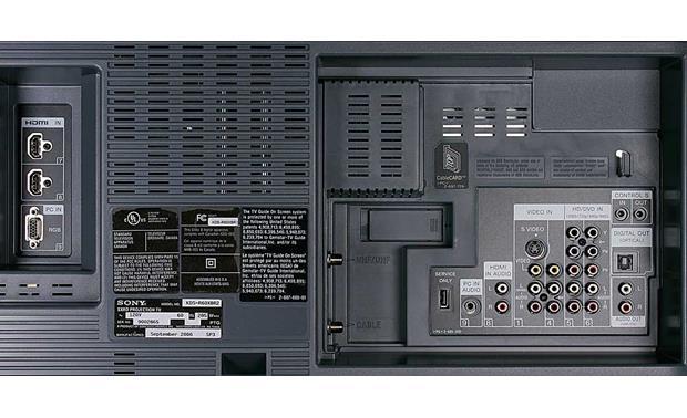 Sony KDSR60XBR2 60 Grand Wega SXRD XBR 1080p rearprojection HDTV  Reviews at Crutchfieldcom