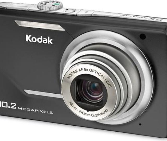 10 2 Megapixel Digital Camera With 5x Optical Zoom Black Kodak Easyshare M380 Black