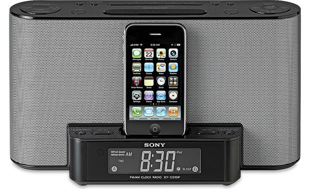 Sony Icf Cs10ip Clock Radio With Built