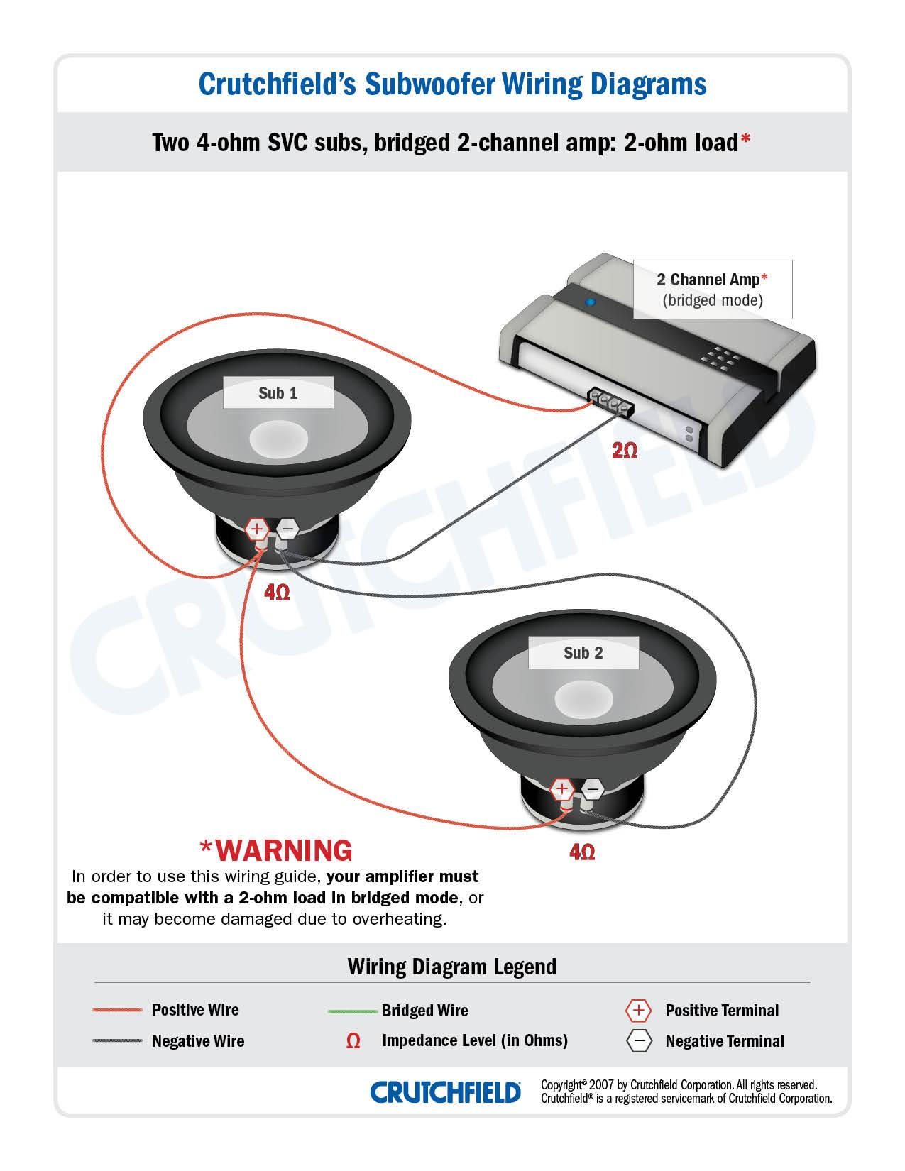2 ohm wiring diagram temp control subwoofer diagrams