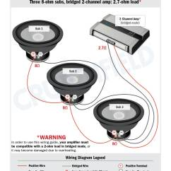 2 Ohm Wiring Diagram Parts Of The Brain Labeled Subwoofer Diagrams