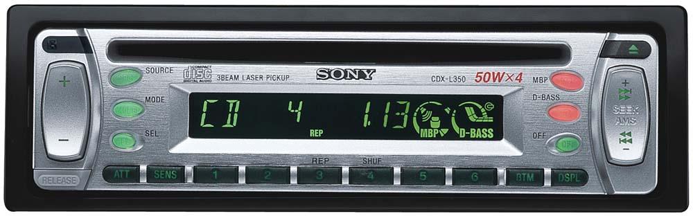 Sony CDX L350 CD Receiver At Crutchfield Com