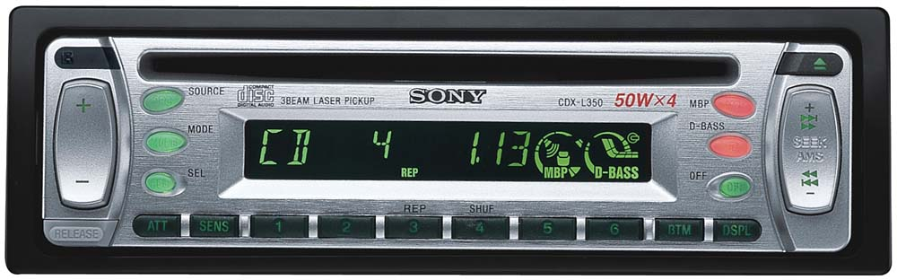 sony cdx l350 wiring diagram 24v thermostat split system cd receiver at crutchfield com