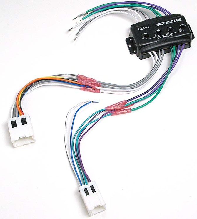 scosche cnn03 wiring interface allows you to connect a new car stereo and  retain the factory amp in select 1994up nissan and infiniti vehicles at