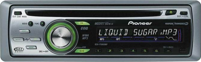 pioneer dehp3800mp cd receiver with mp3/wma playback at crutchfield