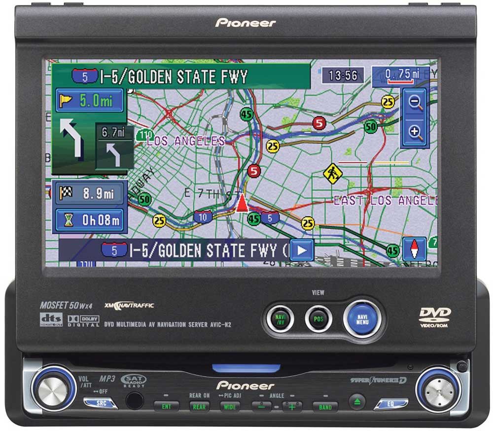 hight resolution of pioneer avic n2 dvd cd navigation receiver with 6 5 monitor at crutchfield
