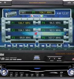 jensen vm9510ts in dash dvd player with 7 retractable video screen at crutchfield com [ 1000 x 909 Pixel ]
