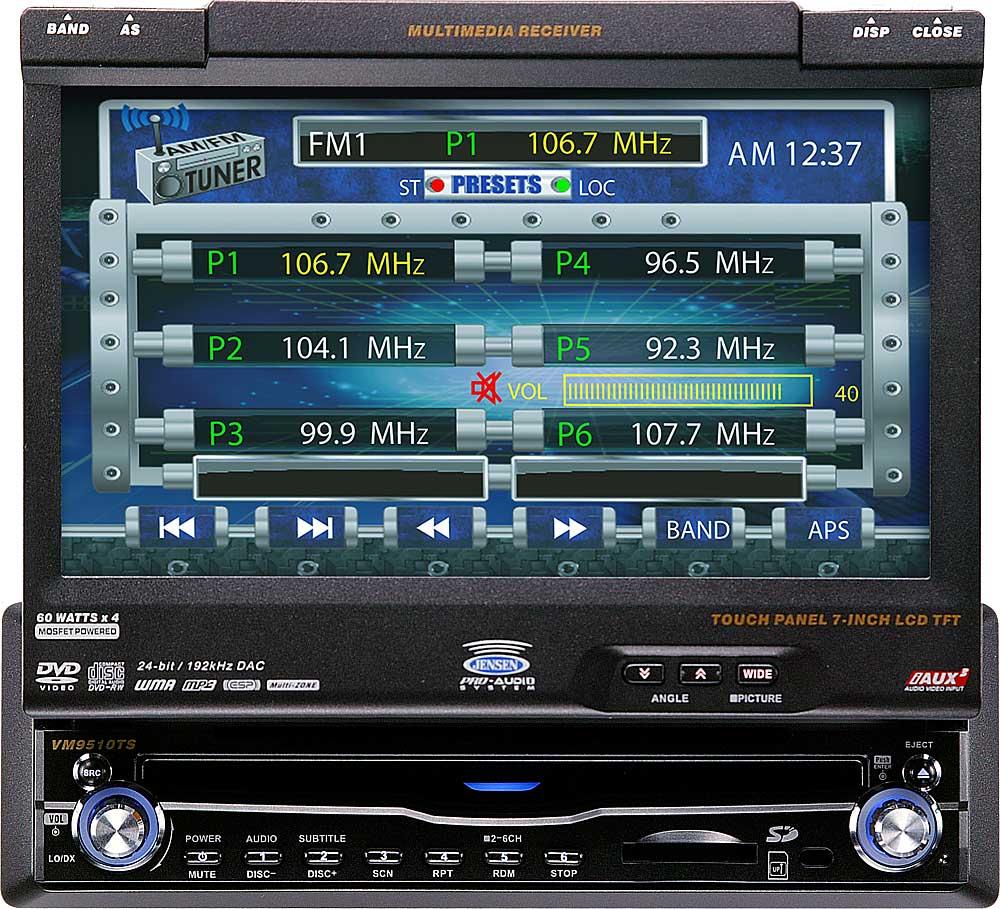 medium resolution of jensen vm9510ts in dash dvd player with 7 retractable video screen at crutchfield com