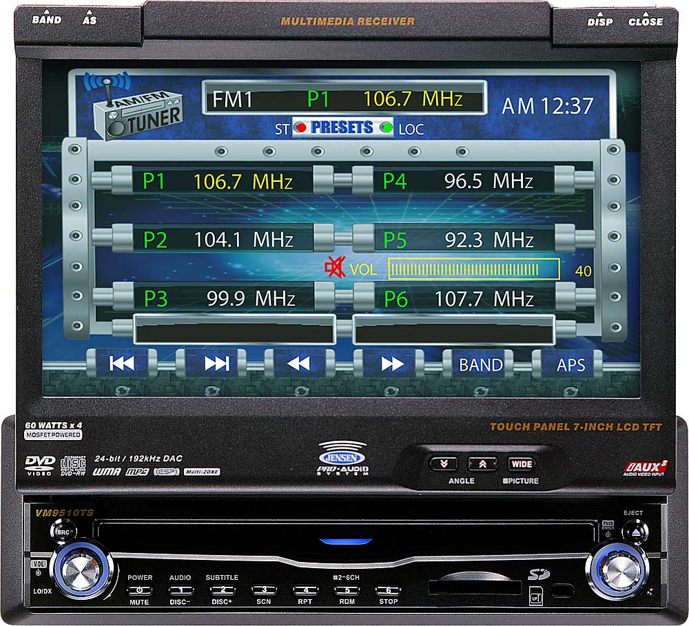 hight resolution of jensen vm9510ts in dash dvd player with 7 retractable video screen at crutchfield com