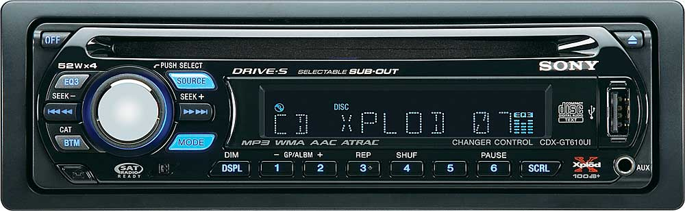 sony cdx gt610ui wiring diagram fender mustang pickup cd receiver with ipod connection and mp3 wma aac playback at crutchfield com
