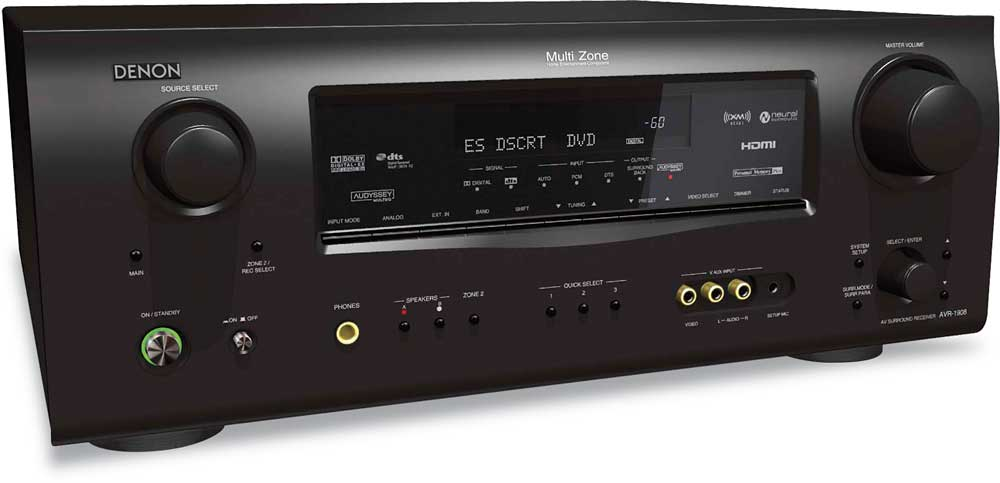 Denon AVR-1908 Home theater receiver with HDMI switching