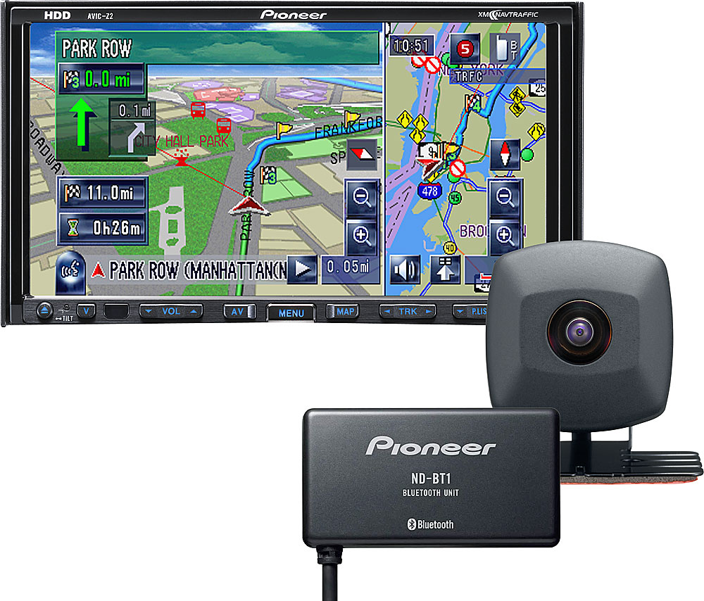 hight resolution of pioneer avic z2x package navigation receiver with included rear view camera and bluetooth adapter at crutchfield com