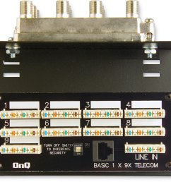 on q 9 x 8 basic combo module for video and telephone distribution at crutchfield com [ 1000 x 802 Pixel ]
