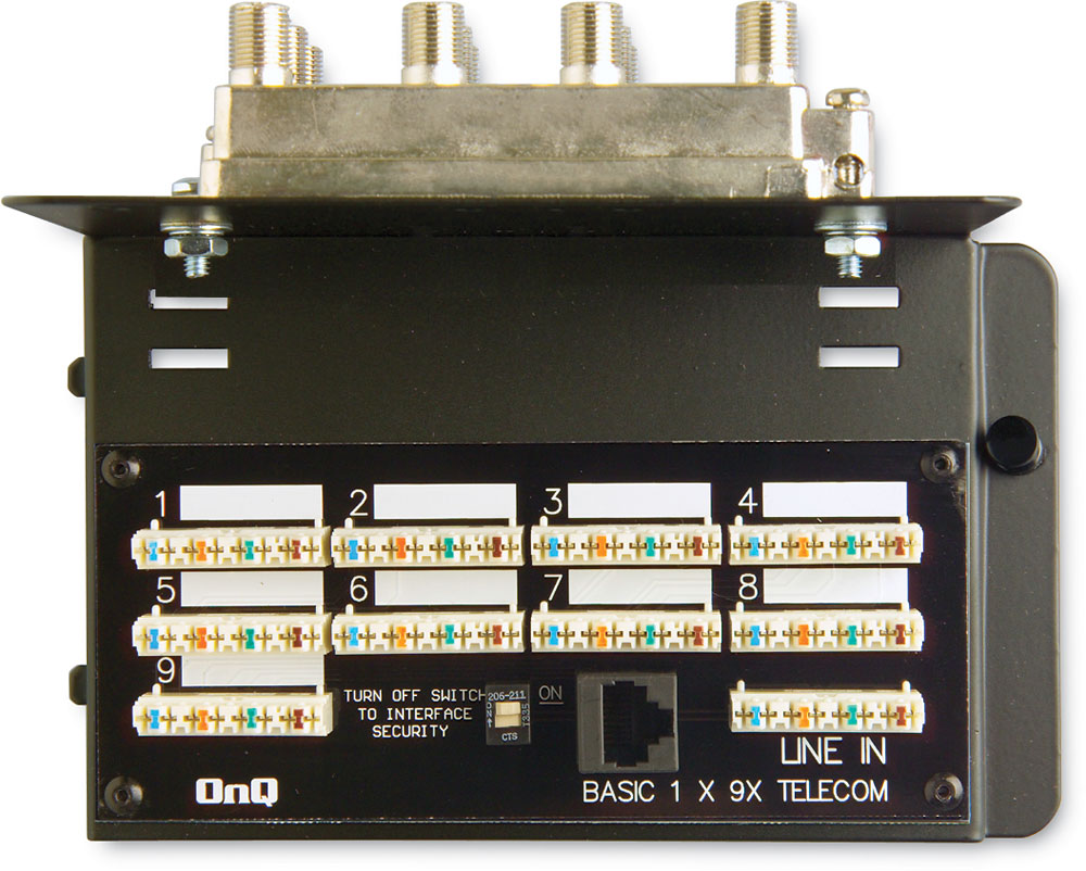 medium resolution of on q 9 x 8 basic combo module for video and telephone distribution at crutchfield com