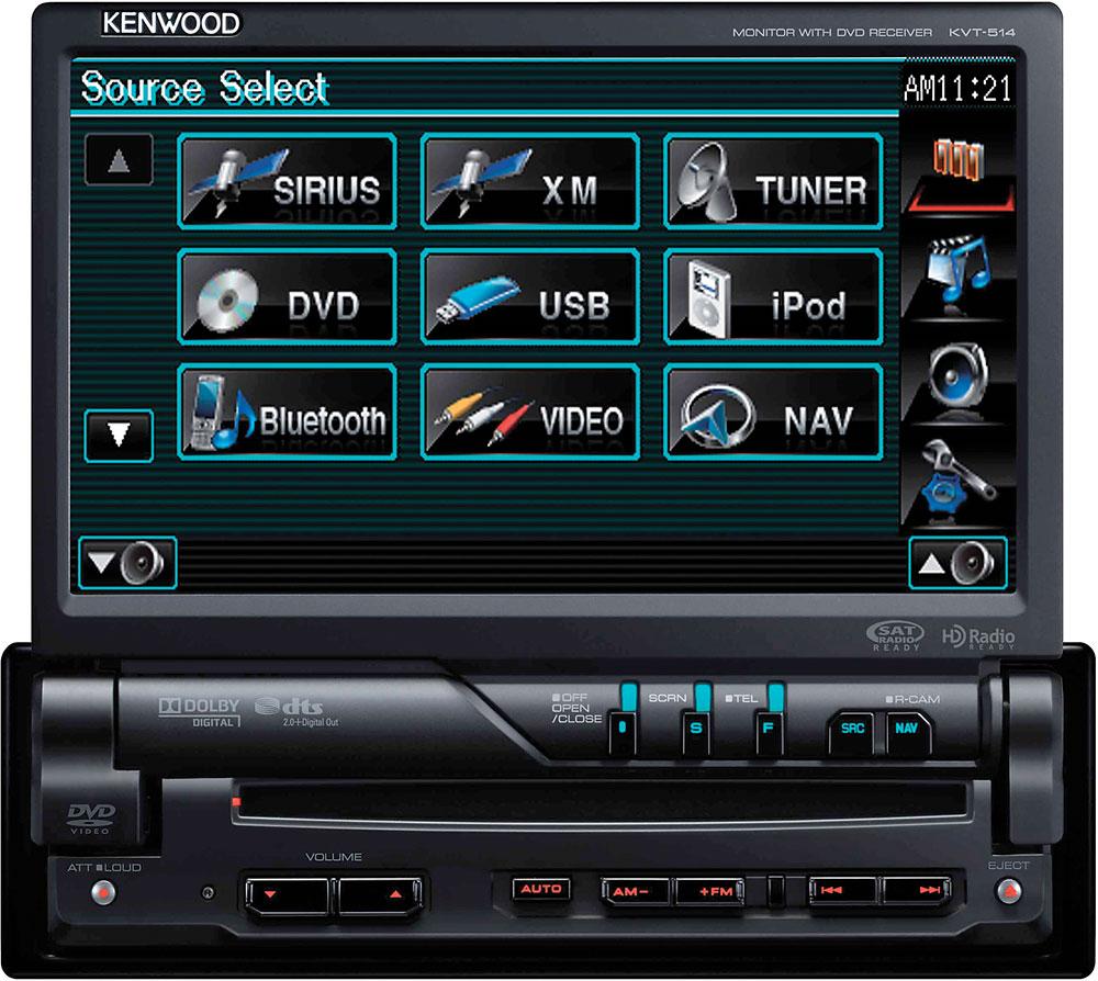 Kenwood KVT 514 DVD Receiver At Crutchfield Com