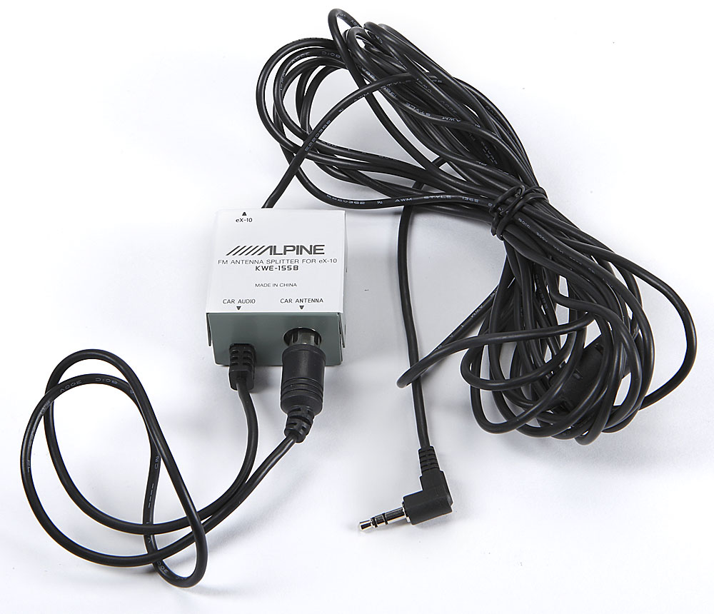 medium resolution of alpine kwe 155b fm antenna splitter allows you to connect alpine s ex 10 ipod adapter to any radio at crutchfield com