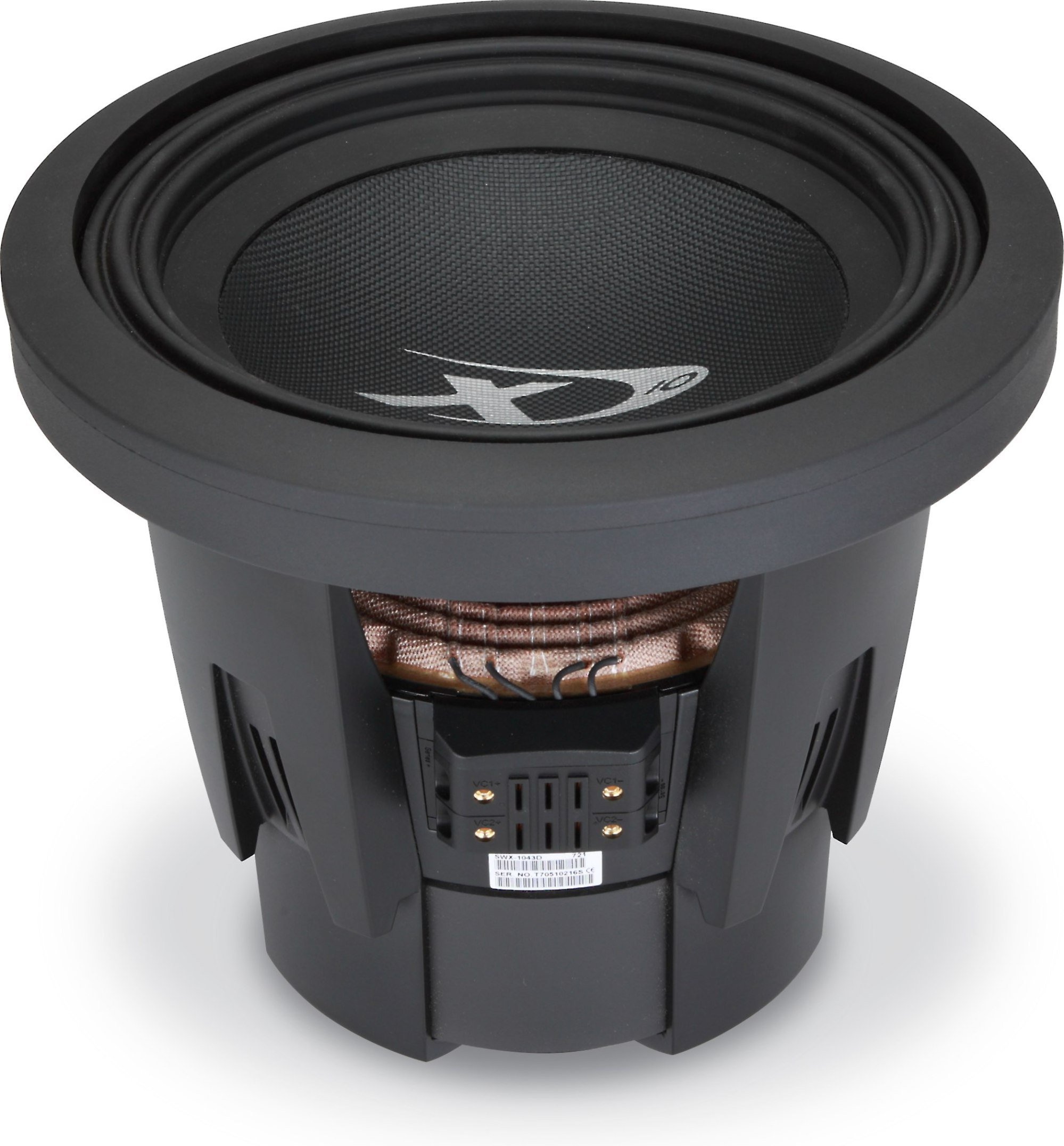 hight resolution of alpine swx 1043d type x 10 subwoofer with dual 4 ohm voice coils at crutchfield com