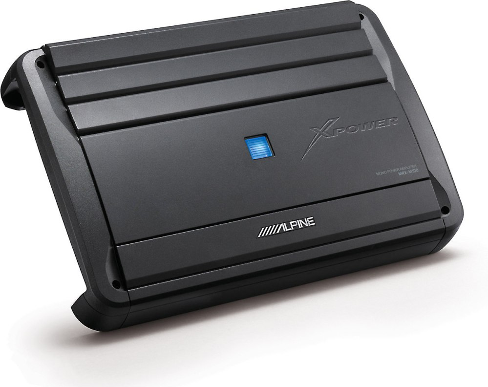 medium resolution of alpine mrx m100 mono subwoofer amplifier 1 000 watts rms x 1 at 2 ohms at crutchfield