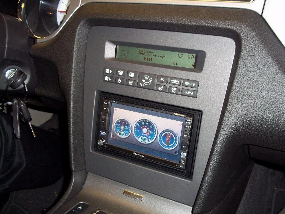 medium resolution of ford mustang factory integration dash adapter install a new car stereo in 2010 up models without navigation includes blue led touchscreen display for