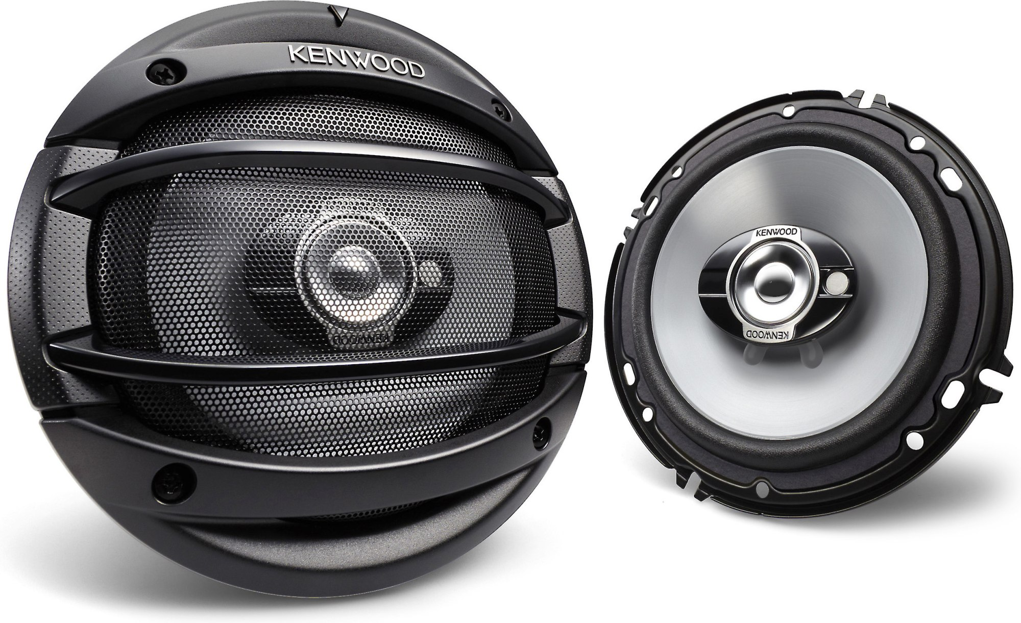 hight resolution of kenwood kfc 1664s 6 1 2 3 way car speakers also fit 6 3 4 openings at crutchfield