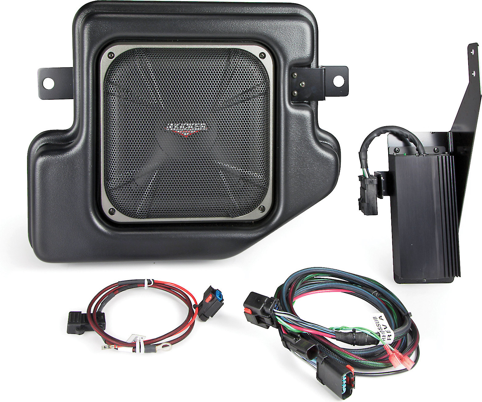 hight resolution of kicker vss substage sramcq09 custom fit powered subwoofer for 2009 up dodge ram crew and quad cab at crutchfield