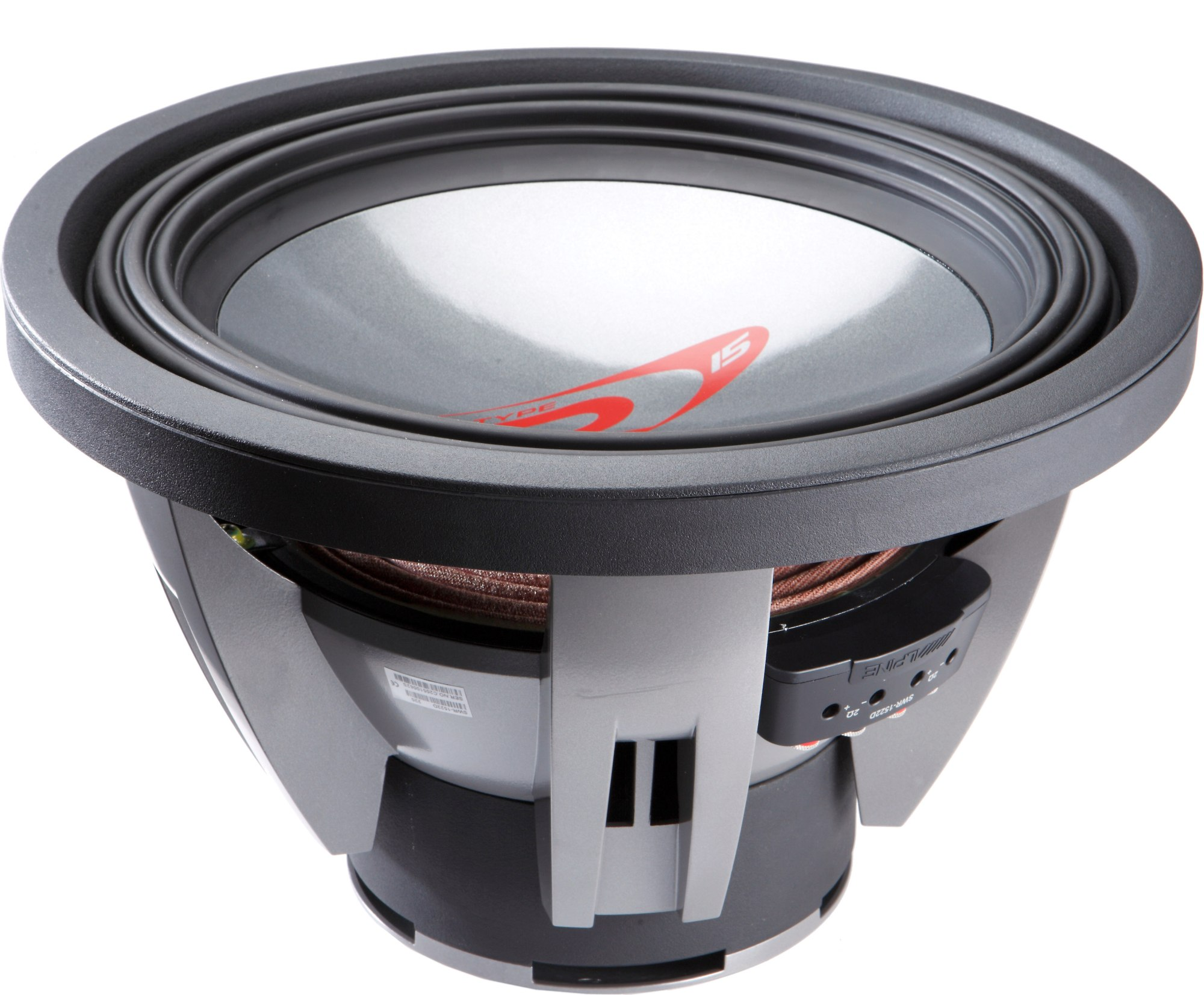 hight resolution of alpine swr 1522d type r 15 subwoofer with dual 2 ohm voice coils at crutchfield