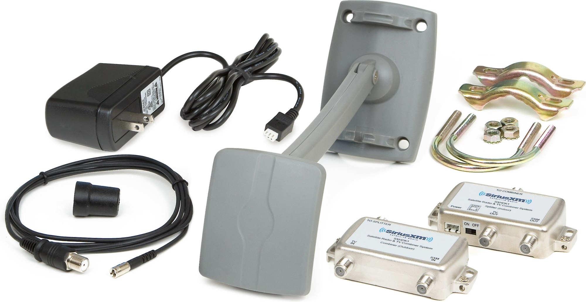 hight resolution of siriusxm home antenna and signal distribution kit uses your existing satellite or cable tv wiring at crutchfield