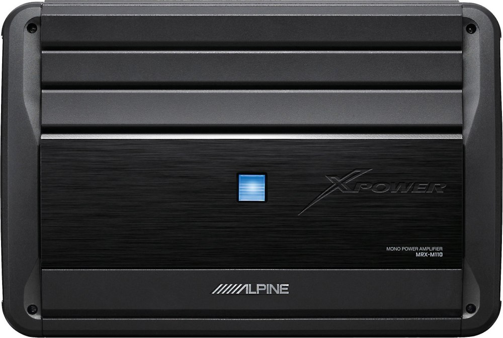 medium resolution of alpine mrx m110 mono subwoofer amplifier 1 100 watts rms x 1 at 2 ohms at crutchfield